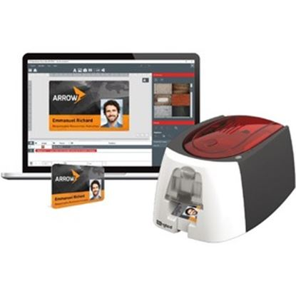 Picture of Badgy200 All-In-On ID Card Printing Solution by Evolis with Badge Studio Software - Print Professional Custom ID's On Demand