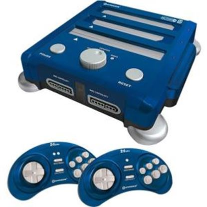 Picture of HYPERKIN SNES/ Genesis/ NES RetroN 3 Gaming Console 2.4 GHz Edition (Bravo Blue)