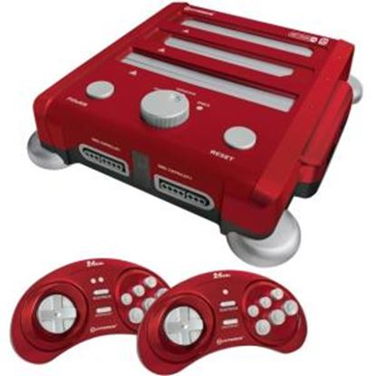 Picture of HYPERKIN SNES/ Genesis/ NES RetroN 3 Gaming Console 2.4 GHz Edition (Laser Red)