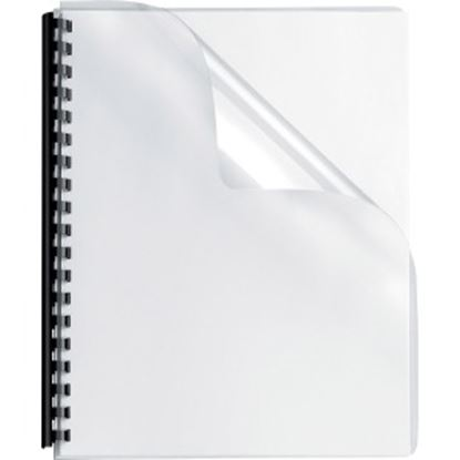 Picture of Fellowes Crystals™ Clear PVC Covers - Oversize, 100 pack
