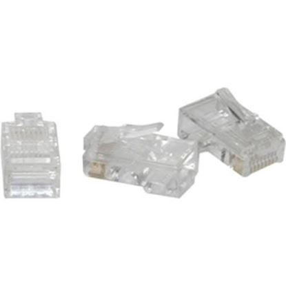 Picture of C2G RJ45 Cat5 8x8 Modular Plug for Flat Stranded Cable - 100pk