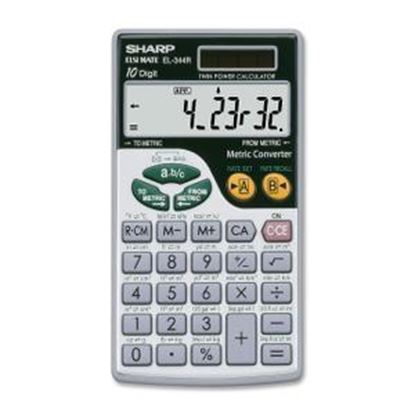 Picture of Sharp Calculators EL-344RB 10-Digit Handheld Calculator