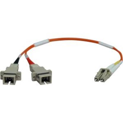 Picture of Tripp Lite 0.3M Duplex Multimode Fiber Optic 62.5/125 Adapter LC/SC M/F 1ft 1' 0.3 Meter