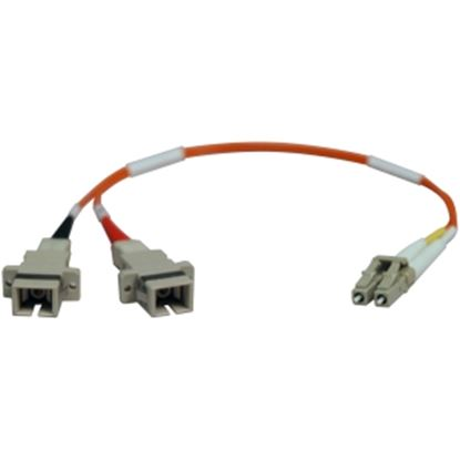 Picture of Tripp Lite 0.3M Duplex Multimode Fiber Optic 50/125 Adapter LC/SC M/F 1ft 1' 0.3 Meter