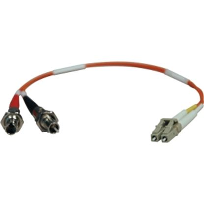 Picture of Tripp Lite 0.3M Duplex Multimode Fiber Optic 62.5/125 Adapter LC/ST M/F 1ft 1' 0.3 Meter