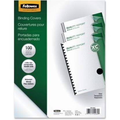 Picture of Fellowes Crystals™ Clear PVC Covers - Letter, 100 pack