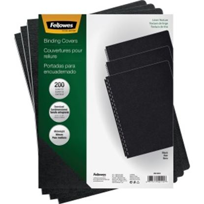 Picture of Fellowes Expressions™ Linen Presentation Covers - Oversize, Black, 200 pack