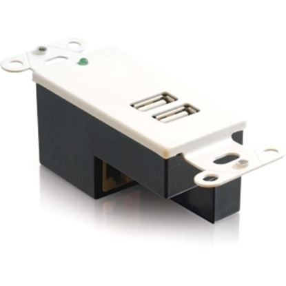 Picture of C2G 2-Port USB 1.1 Superbooster Wall Plate - Receiver