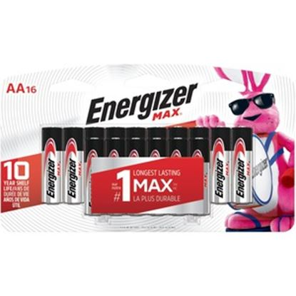 Picture of Energizer MAX Alkaline AA Batteries, 16 Pack