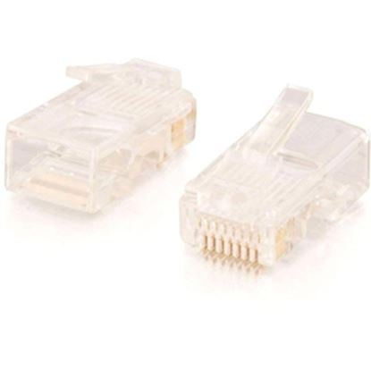 Picture of C2G RJ45 Cat5 8 x 8 Modular Plug for Round Stranded Cable - 100pk