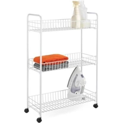 Picture of Honey-can-do CRT-01149 3-tier Laundry Cart, White