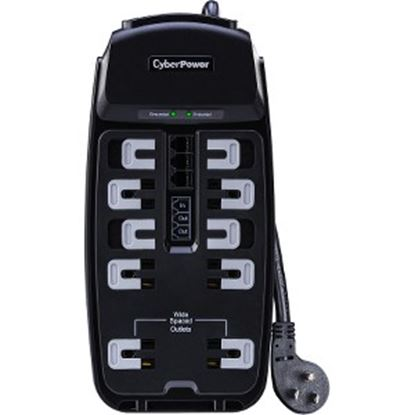 Picture of CSP1008T Professional 10-Outlets Surge Suppressor 8FT Cord and TEL - Plain Brown Boxes