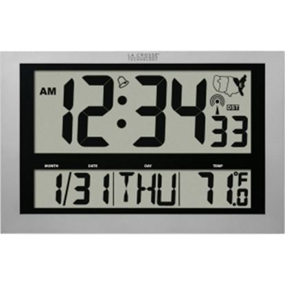 Picture of La Crosse Technology 513-1211 Atomic Digital Clock with Large 4 inch Time Display