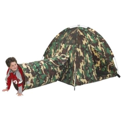 Picture of Pacific Play Tents Command HQ Tent & Tunnel Combo
