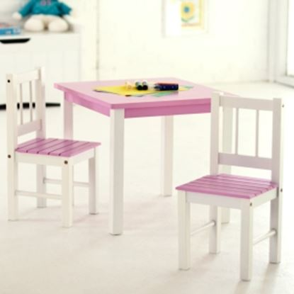 Picture of Lipper 513PK Pink/White Table & Chair