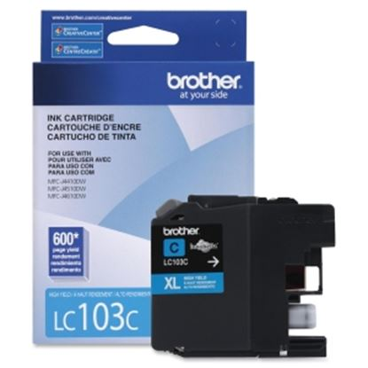 Picture of Brother Genuine Innobella LC103C High Yield Cyan Ink Cartridge