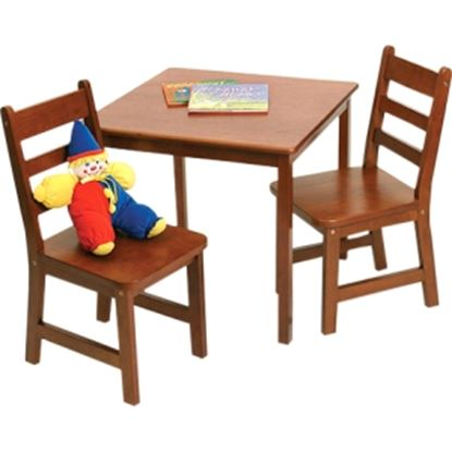 Picture of Lipper 514C Square Table & 2 Chairs Set - Cherry Finish