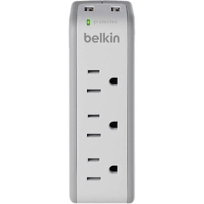 Picture of Belkin 3-Outlet Mini Surge Protector with USB Ports (2.1 AMP)