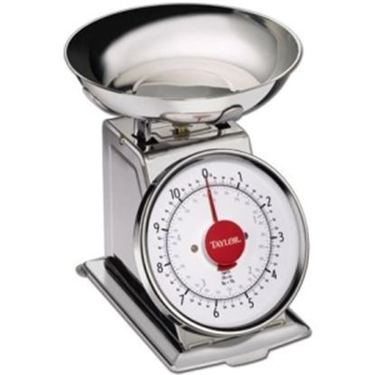 Picture of Taylor 3710 11 lb Stainless Steel Kitchen Scale