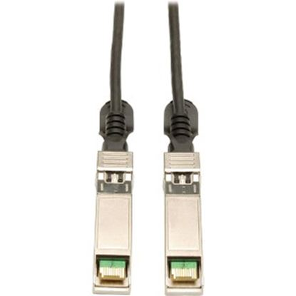 Picture of Tripp Lite 0.5M SFP+ 10Gbase-CU Twinax Passive Copper Cable Black SFP-H10GB-CU50CM Compatible 20 inch