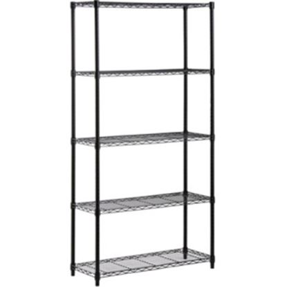 Picture of Honey-can-do SHF-01442 5-Tier Industrial Shelving Holds 200-Pounds Per Shelf, 72-Inch, Black