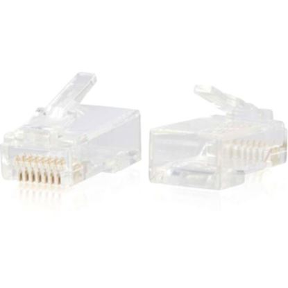 Picture of C2G RJ45 Cat6 Modular Plug for Round Solid/Stranded Cable - 50pk