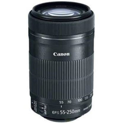 Picture of Canon - 55 mm to 250 mm - f/4 - 5.6 - Telephoto Zoom Lens for Canon EF/EF-S