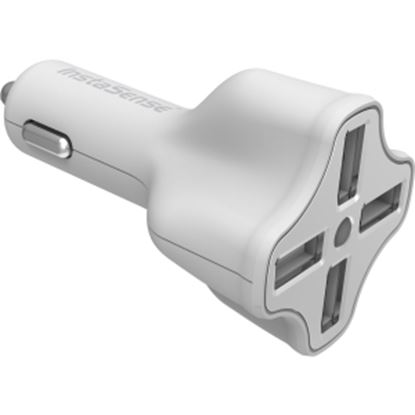 Picture of DigiPower 4 Port USB Car Charger with InstaSense Technology PC-406i