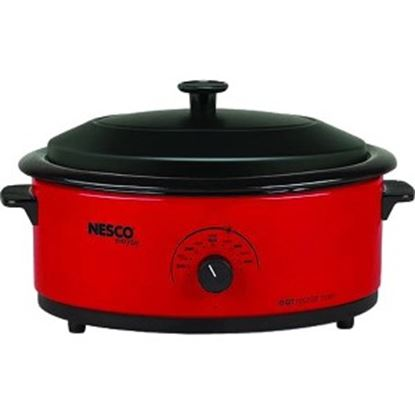 Picture of Nesco 6 Qt. Red Roaster with Porcelain Cookwell