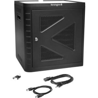Picture of Kensington Charge & Sync Cabinet, Universal Tablet - Black