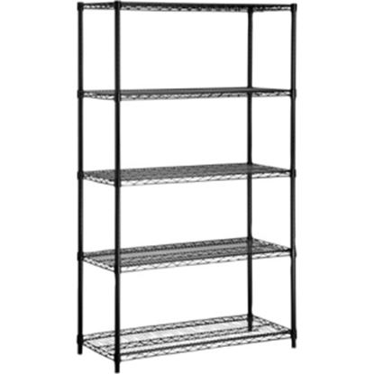 Picture of Honey-can-do SHF-01440 Industrial 5-Tier Adjustable Storage Shelving Unit, Black