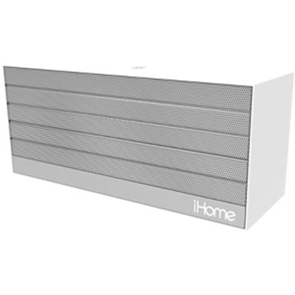 Picture of iHome iBN27 Speaker System - 6 W RMS - Wireless Speaker(s) - Portable - Battery Rechargeable - Silver