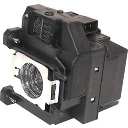 Picture of Compatible Projector ELPLP67-ER Lamp Replaces Epson W12 S12 EX5210 EX6210 EX7210 EX3210 EX3212 VS210 VS220 VS310 VS320 EB-X14 EB-X11 X12 EX60 W12+ W11+ PowerLite Home Cinema 500 707 710HD 750HD 850HD
