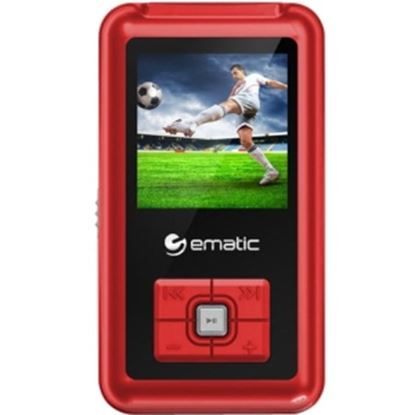 Picture of Ematic EM208VID 8 GB Red Flash Portable Media Player