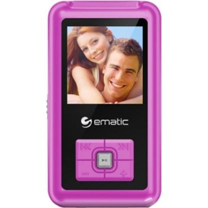 Picture of Ematic EM208VID 8 GB Pink Flash Portable Media Player