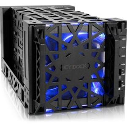 Picture of Icy Dock Black Vortex MB174U3S-4SB Drive Enclosure External - Black