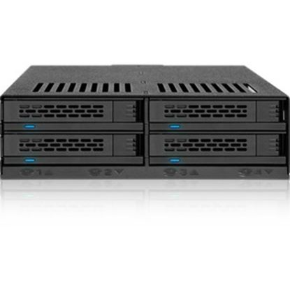 """Picture of Icy Dock ExpressCage MB324SP-B Drive Enclosure for 5.25"""" - Serial ATA/600 Host Interface Internal - Black"""