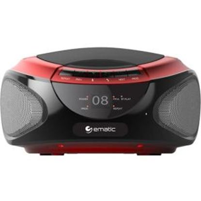 Picture of Ematic CD Boombox with Bluetooth Audio & Speakerphone EBB9224