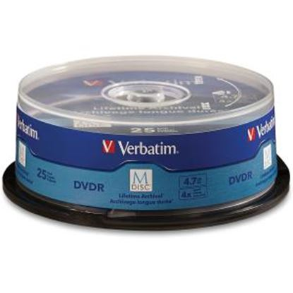 Picture of M-Disc DVDR 4.7GB 4X with Branded Surface - 25pk Spindle