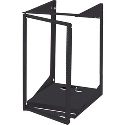 Picture of C2G 19U Swing Out Wall Mount Open Frame Rack - 18in Deep (TAA Compliant)
