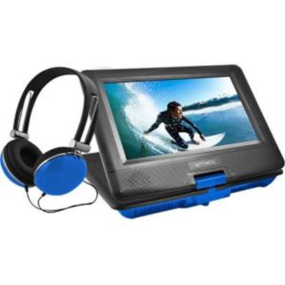 "Picture of Ematic EPD116 Portable DVD Player - 10"" Display - 1024 x 600 - Blue"