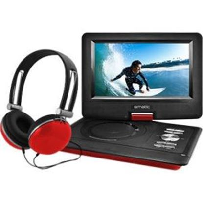 "Picture of Ematic EPD116 Portable DVD Player - 10"" Display - 1024 x 600 - Red"