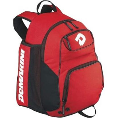 Picture of DeMarini Aftermath Carrying Case (Backpack) Baseball Bat - Scarlet