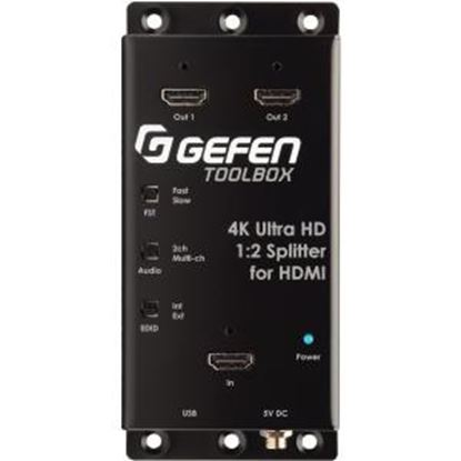 Picture of Gefen 4K Ultra HD 1:2 Splitter for HDMI (GTB-HD4K2K-142C-BLK)