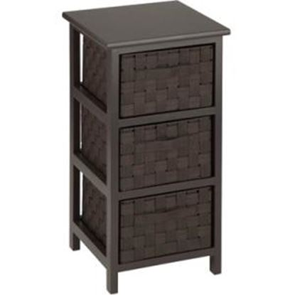 Picture of Honey-can-do 3 Drawer Storage Table, Espresso