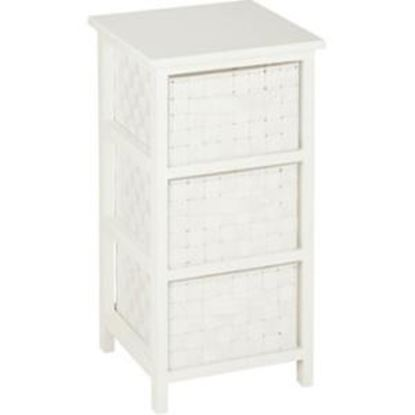 Picture of Honey-can-do 3 Drawer Storage Table, White