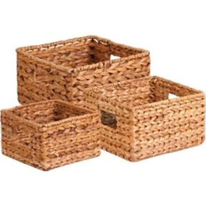 Picture of Honey-can-do 3Pk Natural Baskets Set