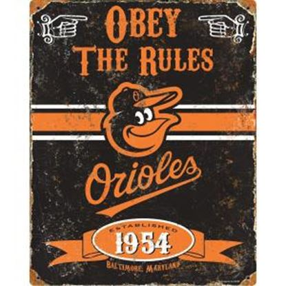 Picture of Party Animal Baltimore Orioles Embossed Metal Sign