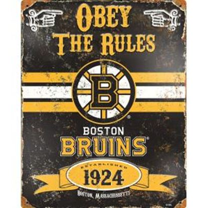 Picture of Party Animal Boston Bruins Embossed Metal Sign