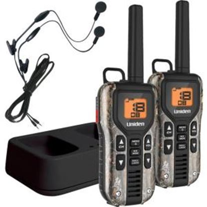 Picture of Uniden GMR4088-2CKHS Camo Two Way Radios with Charger and Headsets